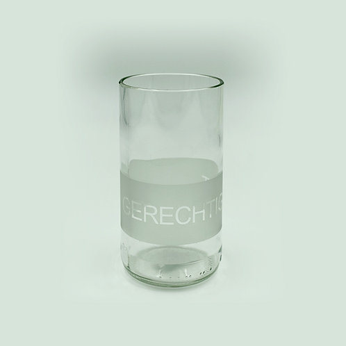 Trinkglas Gerechtigkeit