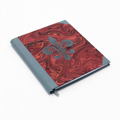 Notizbuch grau-rot
