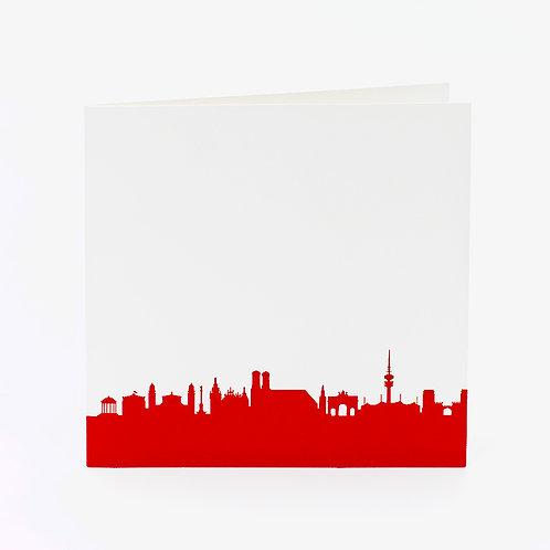 Karte Skyline Rot