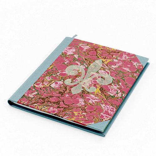 Notizbuch batik-rot