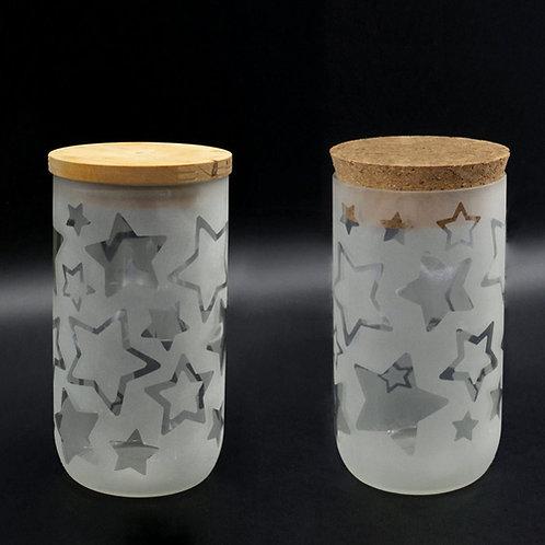 Aufbewahrungsglas mit Holzdeckel oder Korkverschluss