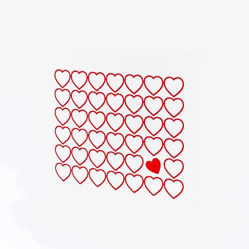Karte Herzen