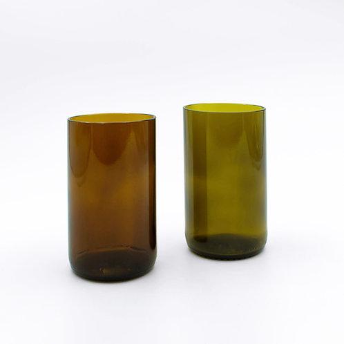Braunes oder grünes Trinkglas 375 ml