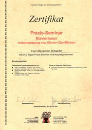 Instandsetzungs-Zertifikat