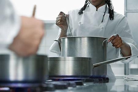 Chef-kok op het werk