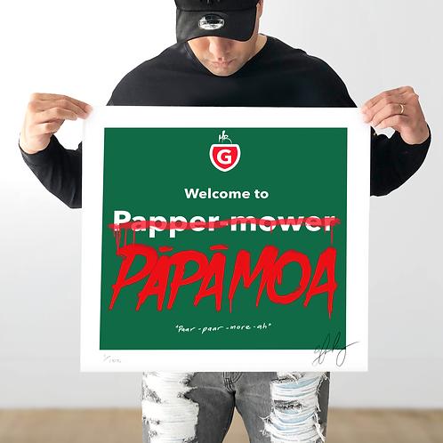 """""""Welcome to PĀPĀMOA"""" PRINT"""