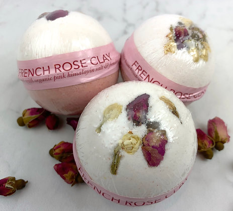 French Rose Clay Bath Bomb