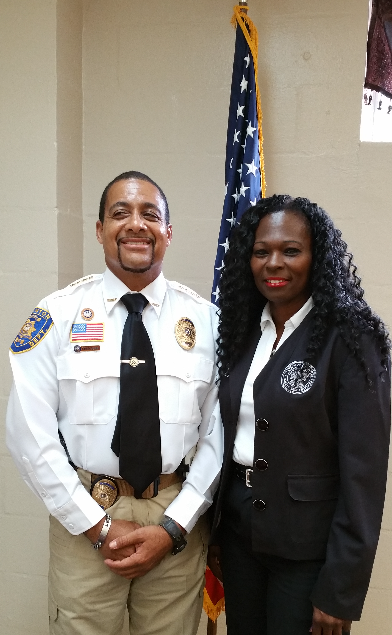 Chief Fred Dunn & Mayor Lori Ann Bell