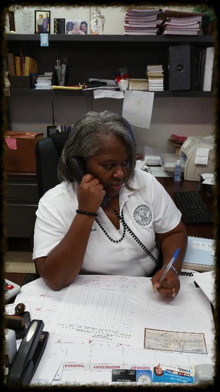 Asst. Town Clerk Sharon Brown