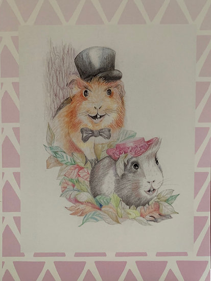 Greeting Card - Avery & Constance