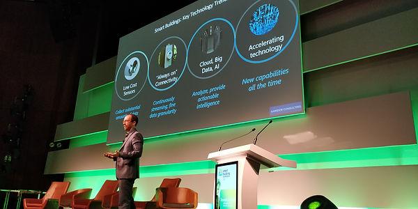 Joe Aamidor of Aamidor Consulting speaking at 2019 Smart Building Summit
