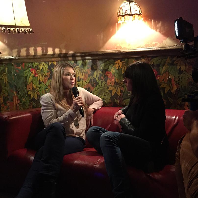 Hélène en interview avant le concert