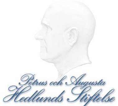 thanks for continuing support from Petrus och Augusta Hedlunds Stiftelse for another year