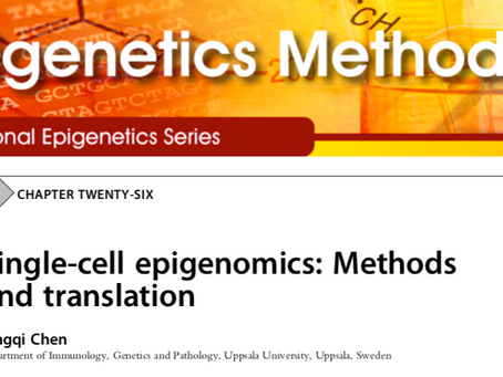 Our book chapter of single cell epignomics in the book of Epigenetic Methods is on line now.