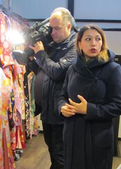 "The famous Russian news program ""Vremya"" came to Yumeyakata Oike Bettei!"