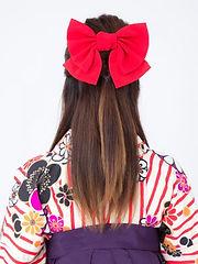 hakama kawaii kimono pas cher yumeyakata gojo kyoto coiffure ruban noeud accessoire