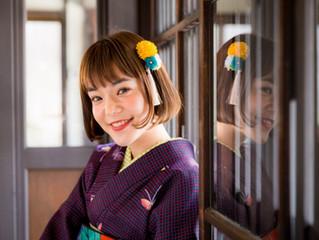 The Japanese model Mei Nagazawa came to Oike Bettei shop!