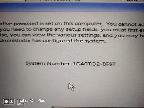 Dell BF97 Master Password Unlock