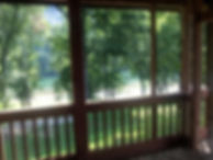 River view from the screened back porch.