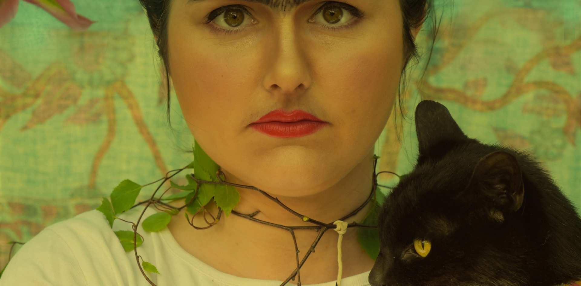 Self-Portrait with Thorn Neclace and Hummingbird