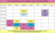 Timetable-T2- Star Pole Studio Byron Bay