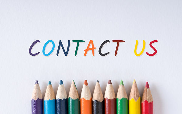 Text _Contact us_ on white paper with co