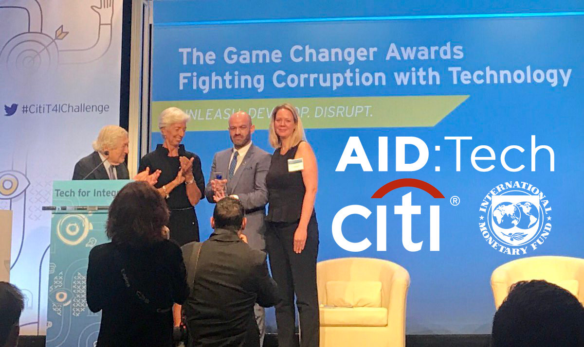 AIDTech Citi Tech4Integrity Global Gamechanger Award 2017