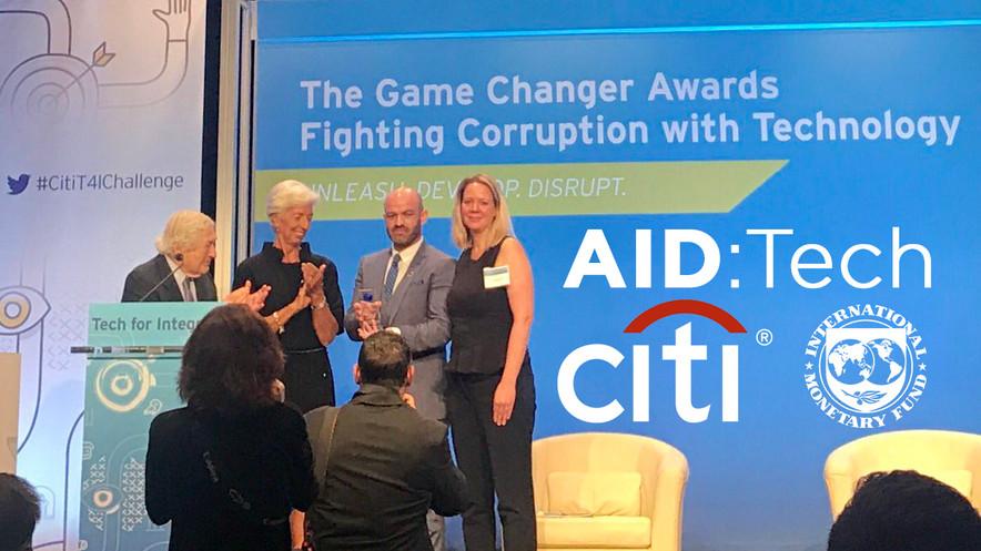 AIDTech Citi Tech4Integrity Global Gamechanger Award 2017
