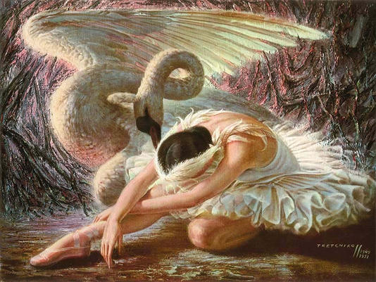Title: Dying Swana by Vladimir Tretchikoff