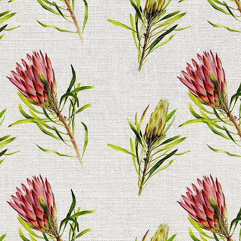 silver lake linens | whirly protea