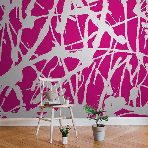 airbrushed | splatter pink