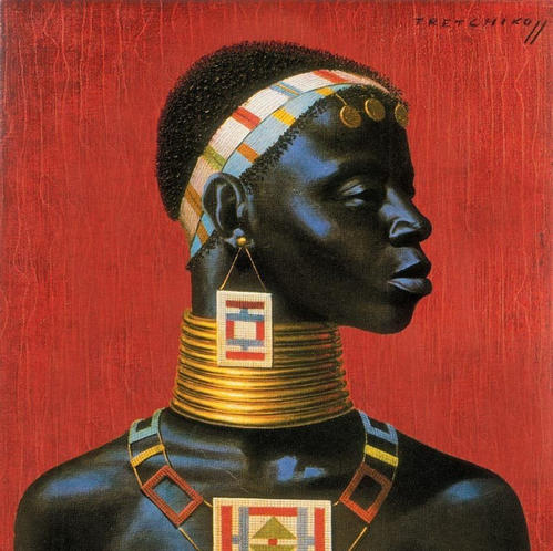 Title: Ndebele Woman by Vladimir Tretchikoff
