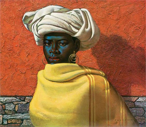 Title: Swazi Girl by Vladimir Tretchikoff