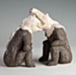 Wortgefecht, Ton gebrannt, 18 cm