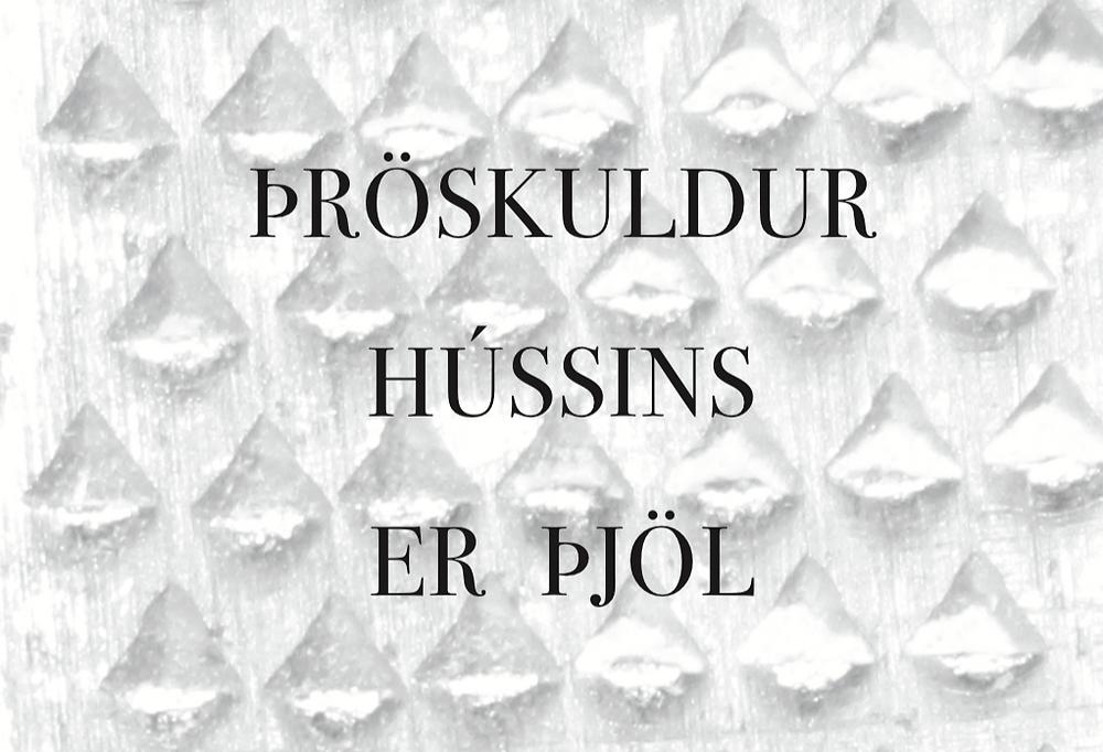 Arnfríður Jónatansdóttir- Þröskuldur hússins er þjöl