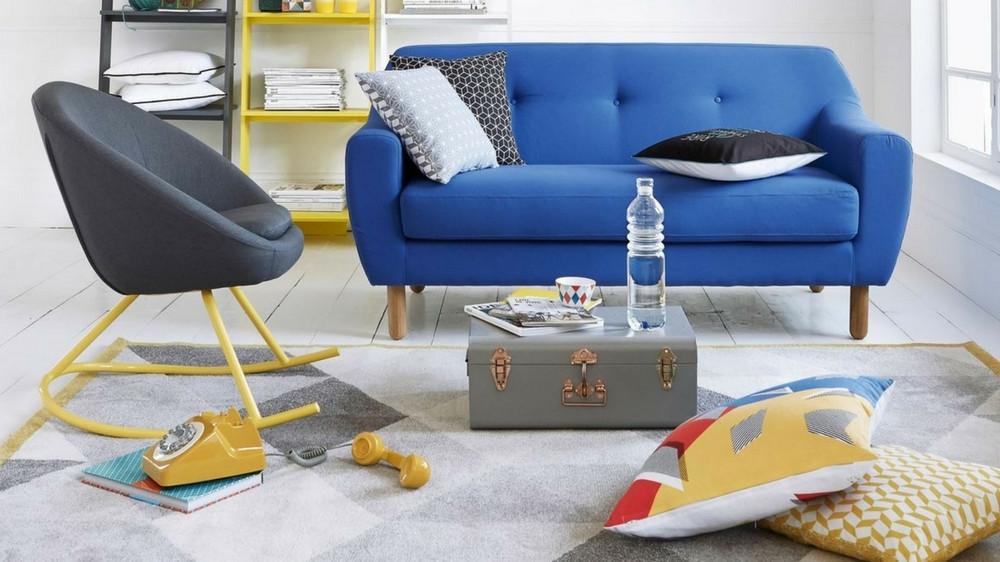 intérieur design contemporain et coloré pour la famille
