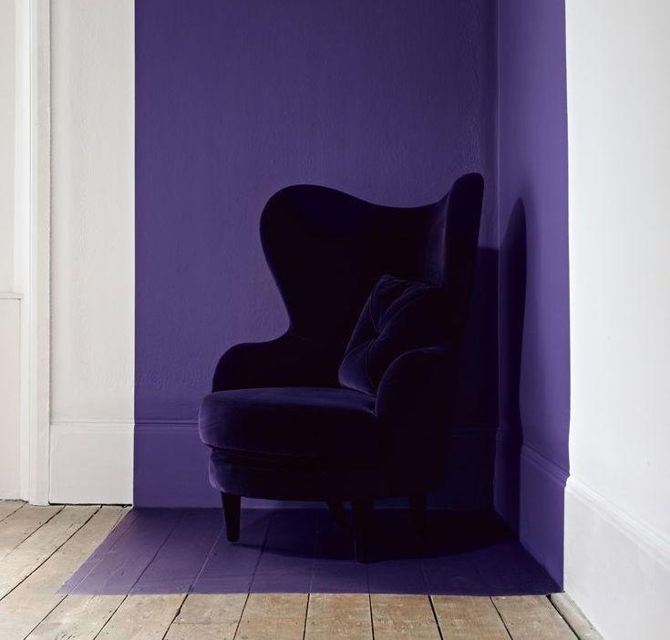 fauteuil design en velours ultra violet style classique