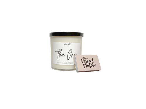 """""""The One"""" Candle & Match Set"""