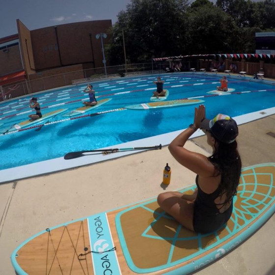 Local paddleboard company blends exercise with laughs