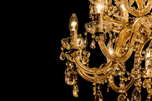 Gallant chandelier with light candles an