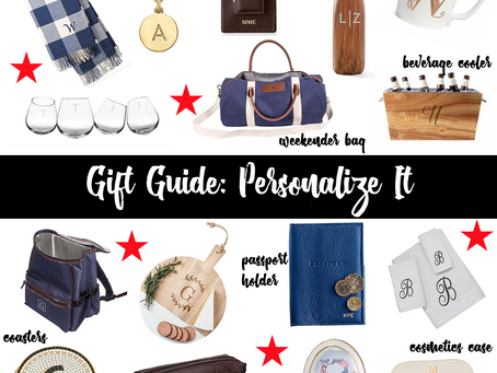 Gift Guide: Personalize It