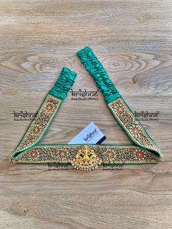 Bridal Hip Belt in Green Color