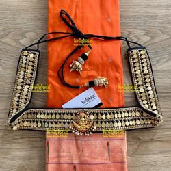 Black Hip Belt with Lakshmi Coins