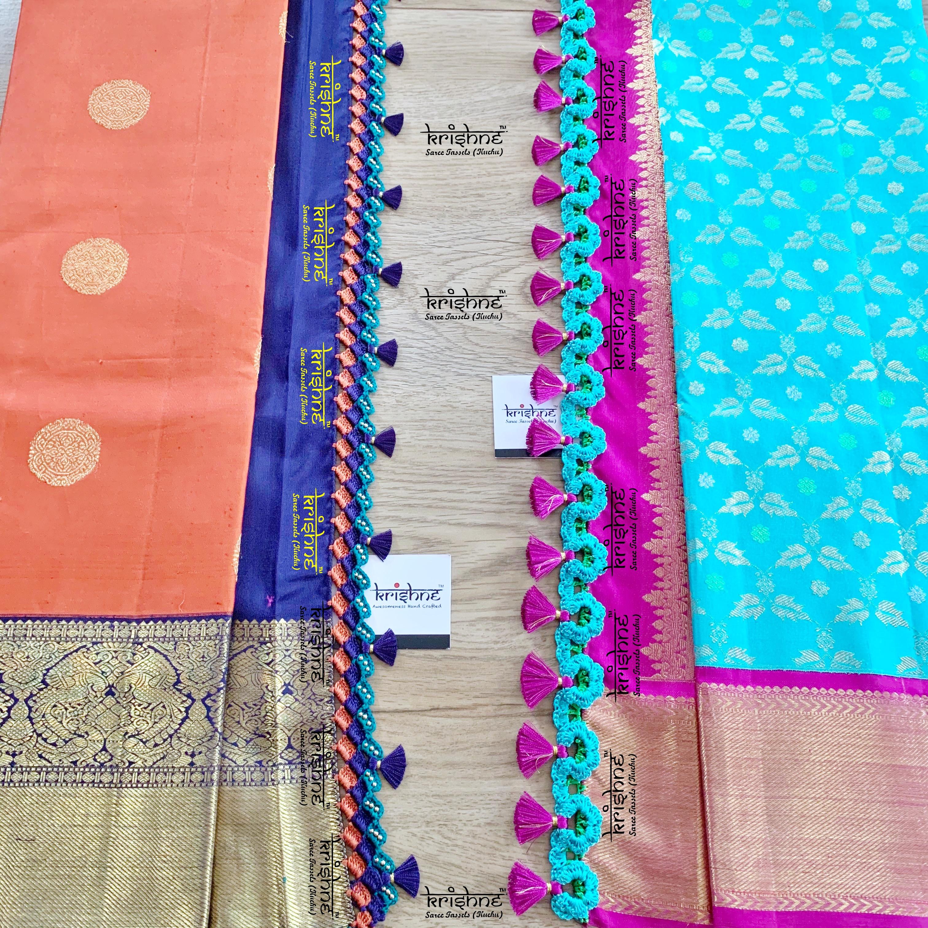 Crochet Saree Kuchu Tassels