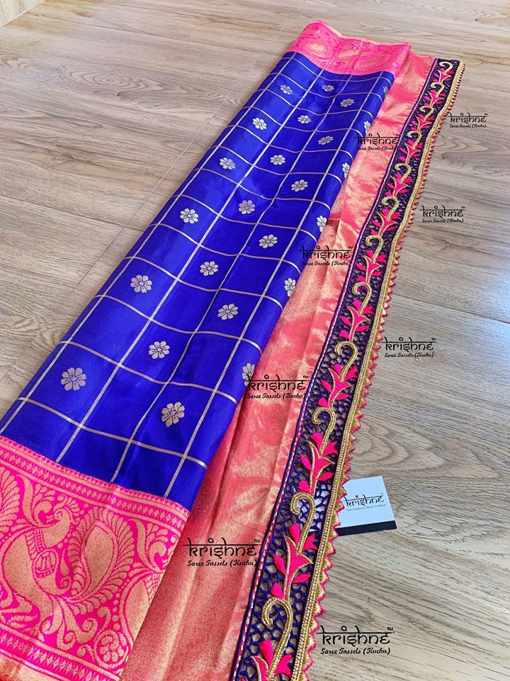 Bridal Saree Pallu Embroidery Designs