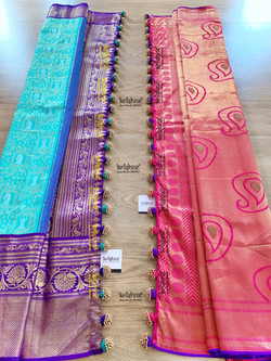 Beaded Potli Saree Kuchu