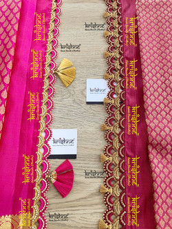 Bridal Saree Tassel Lace