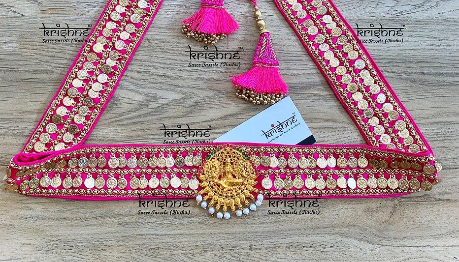 Lakshmi Coin Hip Belt in Pink Color.jpg