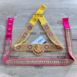 Maggam work hip belt design for Saree, Half Saree & Lehenga