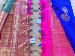 Saree Button Tassel Design
